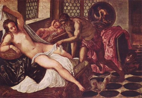 Venus and Mars Surprised by Vulcan - Tintoretto