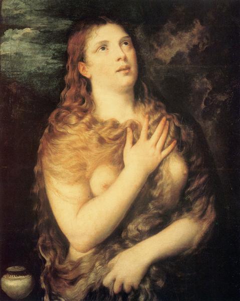 Mary Magdalen Repentant, 1531 - Ticiano Vecellio