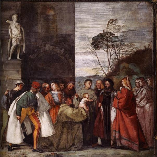 The Miracle of the Newborn Child, 1511 - Titian