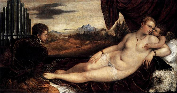 Venus and Cupid with an Organist, 1548 - 1549 - Titian