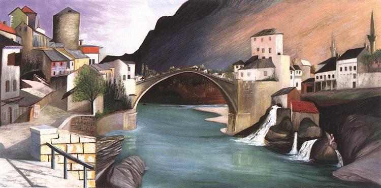 Roman Bridge at Mostar, 1903 - Tivadar Kosztka Csontvary