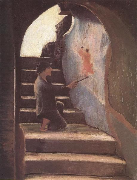 Young Painter, 1898 - Tivadar Kosztka Csontvary