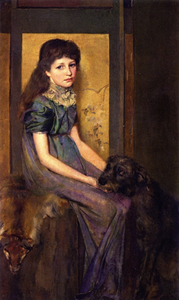 Blue Eyes and Brown, 1888