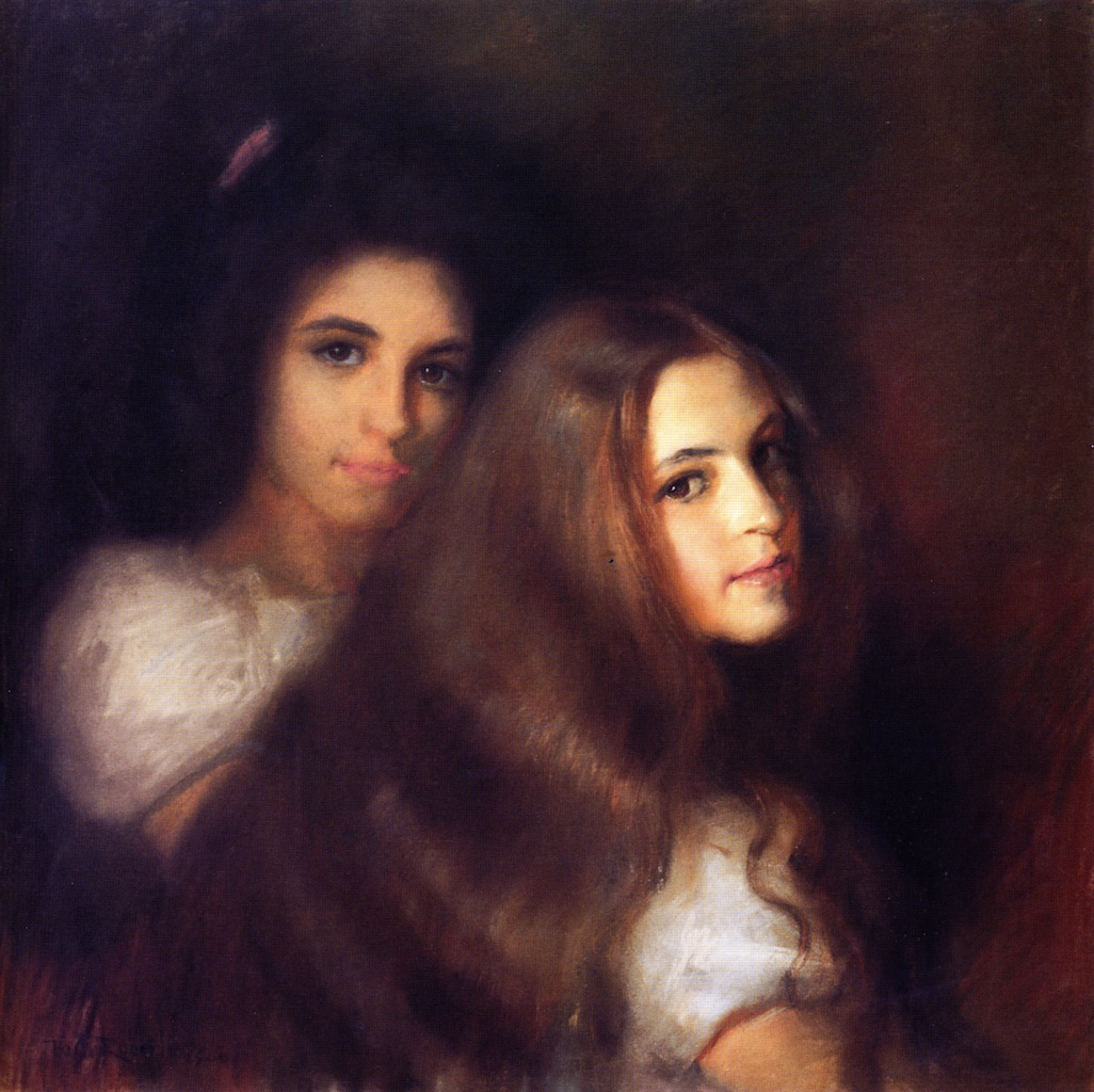 Elizabeh and Carmen Pinschof, 1900