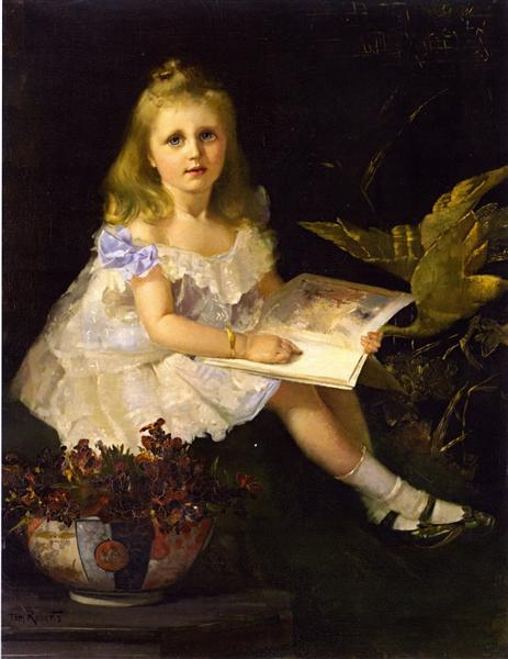 Louise, Daughter of the Hon. L. I. Smith, 1888 - Tom Roberts
