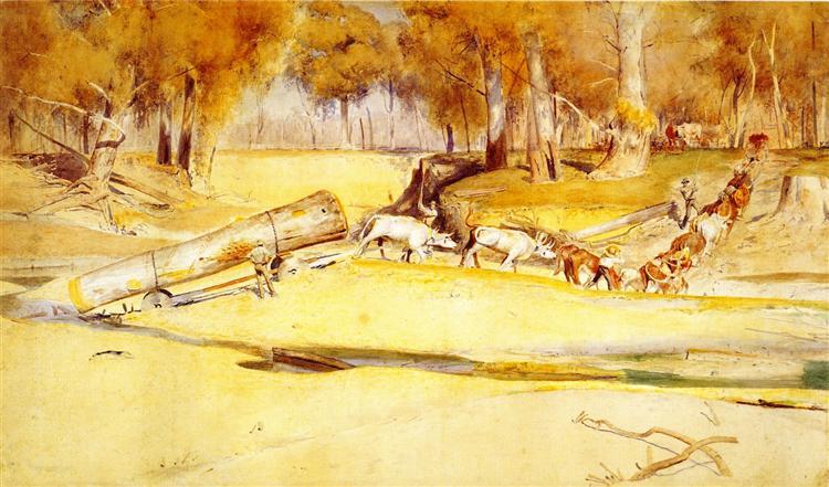 Lumbering, 1894 - Tom Roberts