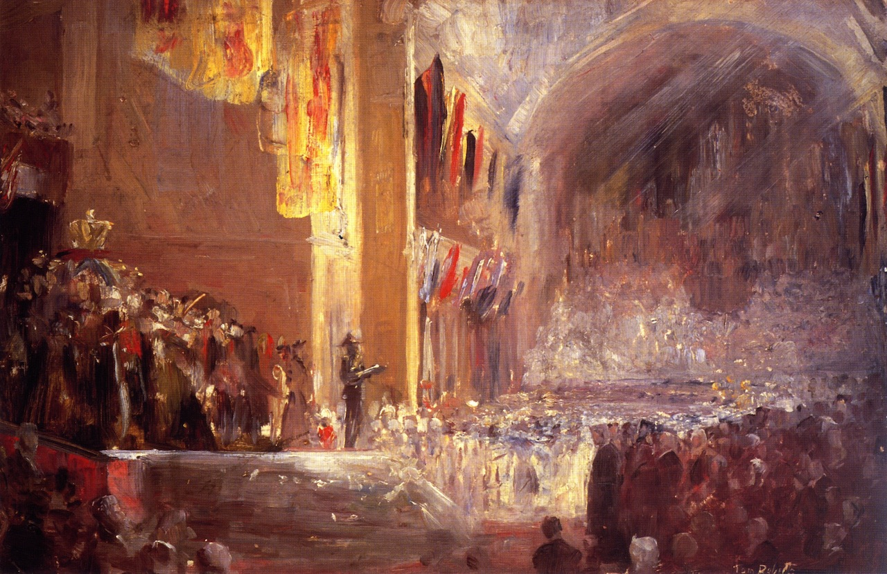 Sketch for the Opening of the First Parliament, 1901