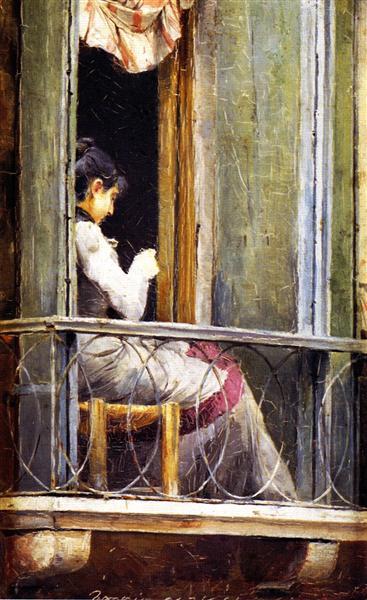 Woman on a Balcony, 1884 - Tom Roberts