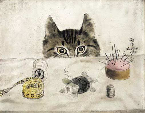 Couturier Cat, 1927 - Tsuguharu Foujita