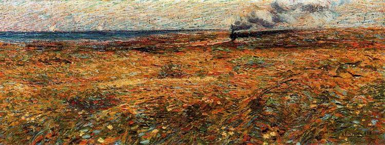Passing Train, 1908 - Umberto Boccioni