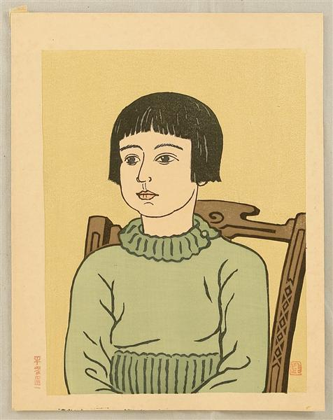 Girl, 1930 - Unichi Hiratsuka