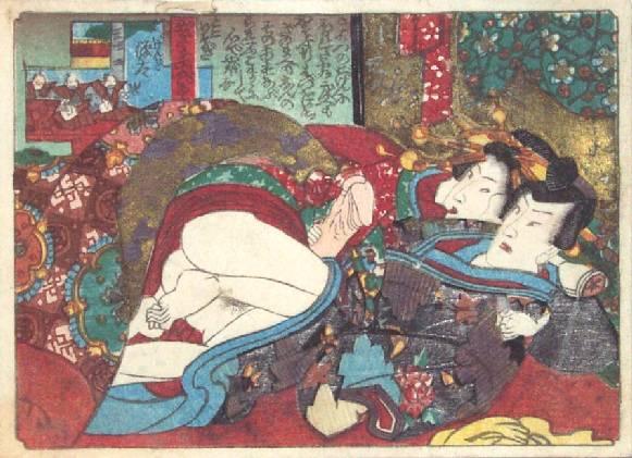 Foreplay Under the Futon, c.1835 - Utagawa Kunisada