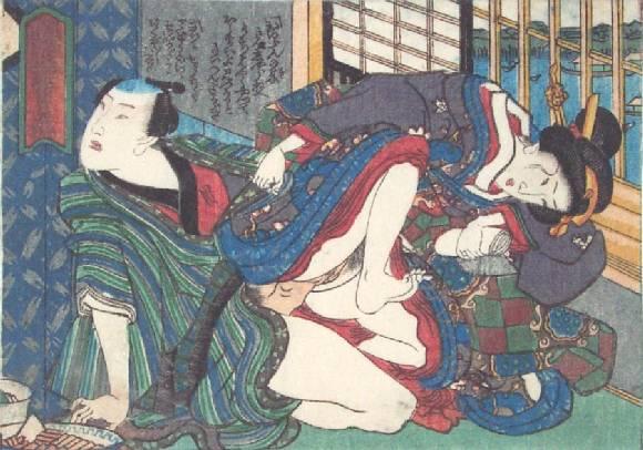 Before the Window, c.1835 - Utagawa Kunisada