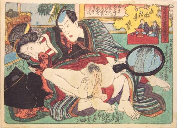 The Hand Mirror - Utagawa Kunisada