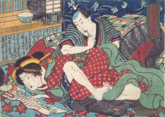 The Letter - Utagawa Kunisada