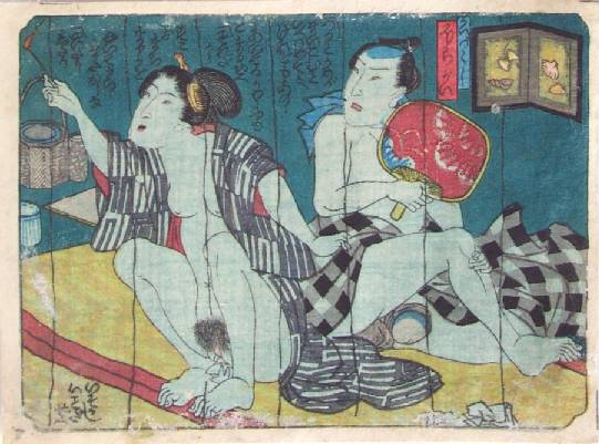 The Mosquito Netting - Utagawa Kunisada
