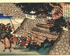 Prince Shôtoku directing the attack on Moriya's castle - Utagawa Kuniyoshi