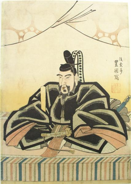The scholar Sugawara no Michizane, c.1825 - Утаґава Тойокуні ІІ