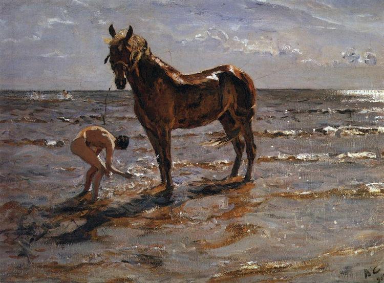 Bathing a Horse, 1905 - Valentin Serov