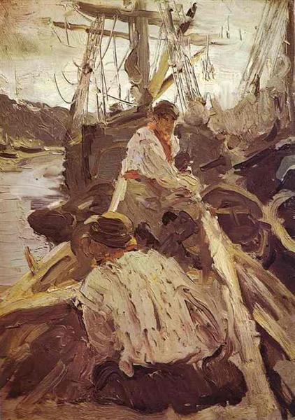 Pomors, 1894 - Valentin Serov