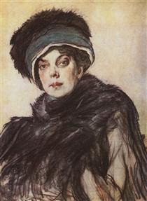 Portrait of a princess Olga Orlova - Valentin Serov