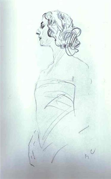 Portrait of Anna Pavlova, 1909 - Valentin Serov