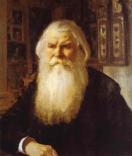 Portrait of Ivan Zabelin, 1892 - Valentin Serov