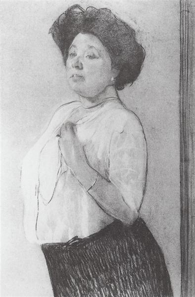 Portrait of N.P. Lamanova, 1911 - Valentin Serov