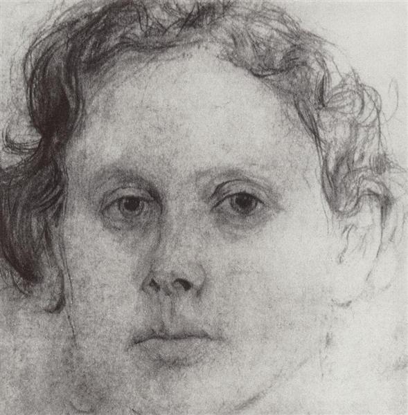 Portrait of O. Trubnikova, 1885 - Valentin Serov