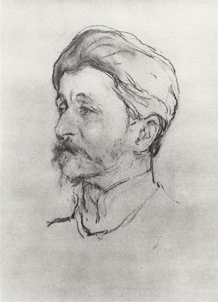 Portrait of the Artist M.A. Vrubel, 1907 - Valentin Serov
