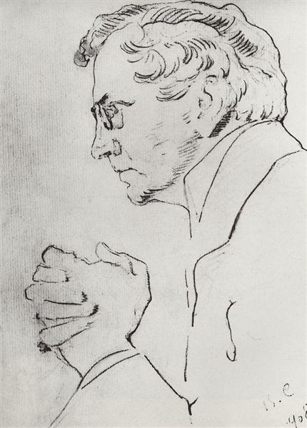 Portrait of V.I. Kachalov, 1908 - Valentin Serov