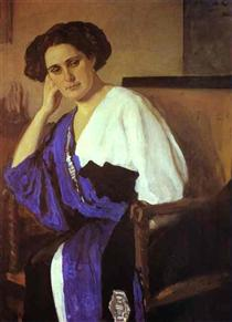 Portrait of Yelena Balina - Valentin Serov