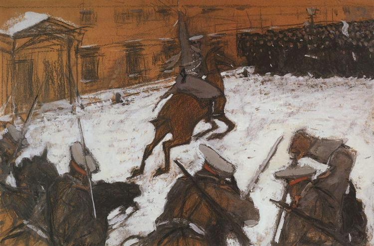 Soldiers, oldiers, Heroes Every One, 1905 - Valentin Serov