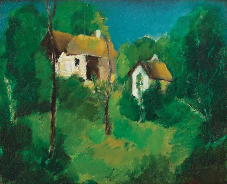 Houses in Prahova Valley, 1942 - Vasile Popescu