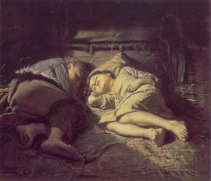 Children Sleeping, 1870 - Vasily Perov