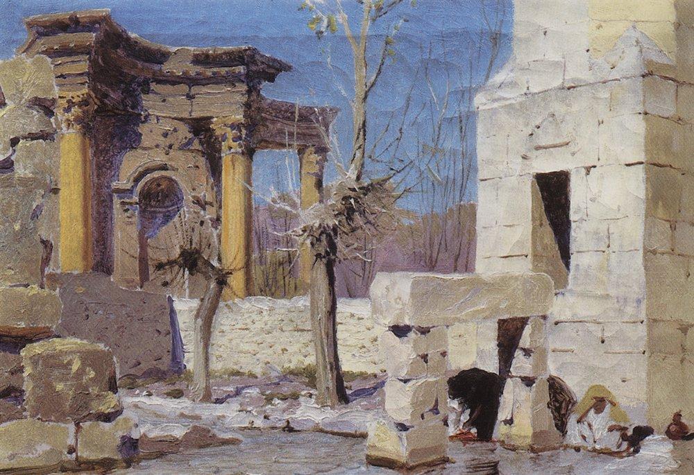 Баальбек, 1882 - Василий Поленов - WikiArt.org Больная Поленов