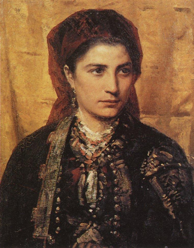 Vasily Polenov Montenegrin-girl-1874