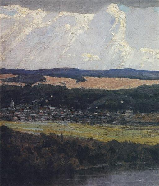 View of Tarusa from high Oka bank, 1916 - Vassili Polenov