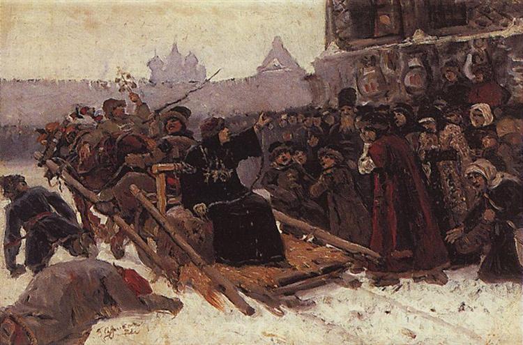 Boyarynya Morozova (study), 1881 - Vasili Súrikov