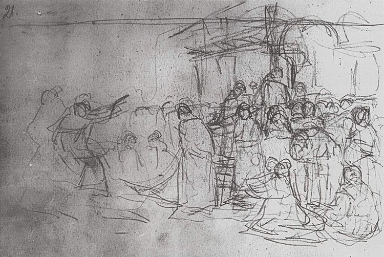 Boyarynya Morozova (study), 1887 - Wassili Iwanowitsch Surikow