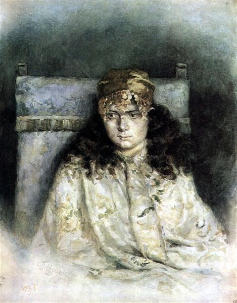 Female portrait, 1885 - Vasily Surikov