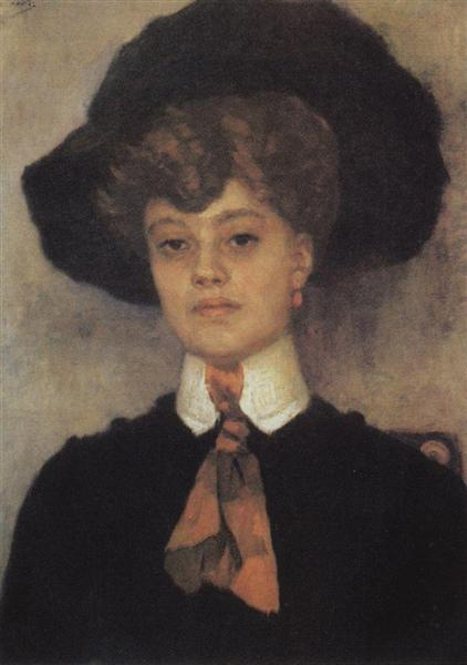 Female portrait, 1902 - Vasily Surikov