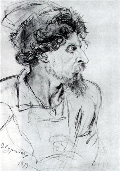 Head of cossack, 1879 - Wassili Iwanowitsch Surikow