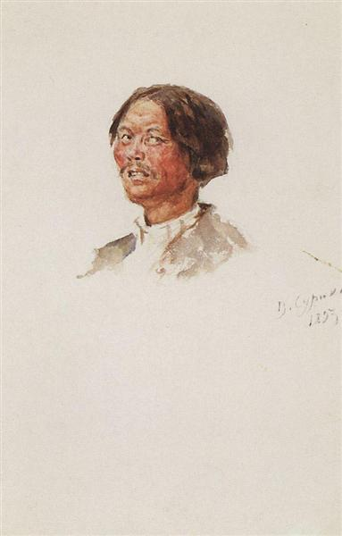 Head of khakasy, 1893 - Vasily Surikov