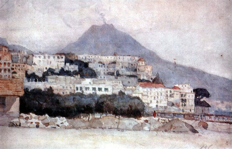 Naples. Vesuvius., 1884 - Vasily Surikov