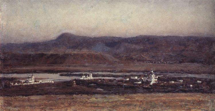 Old Krasnoyarsk, 1914 - Vassili Sourikov