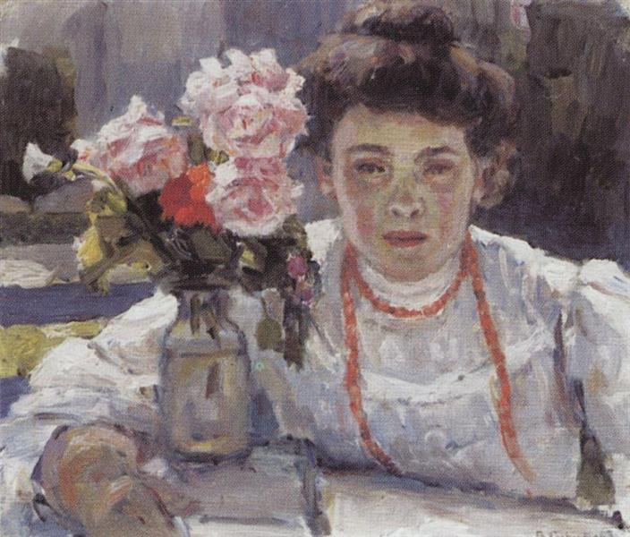 Portrait of E. V. Surikova, 1908 - Vasily Surikov