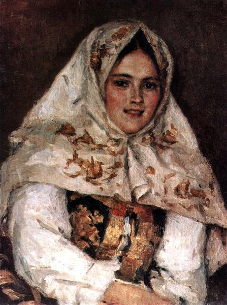 Siberian Beauty. Portrait of E. A. Rachkovsky., 1891 - Vasily Surikov