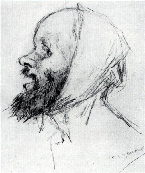 """Study to """"Boyarynya Morozova"""" - Vasily Surikov"""