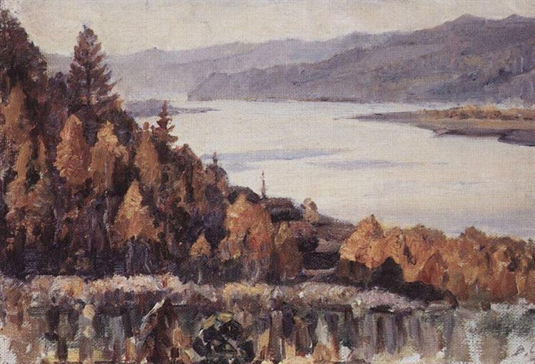 Yenisey near Krasnoyarsk, 1909 - Vasily Surikov